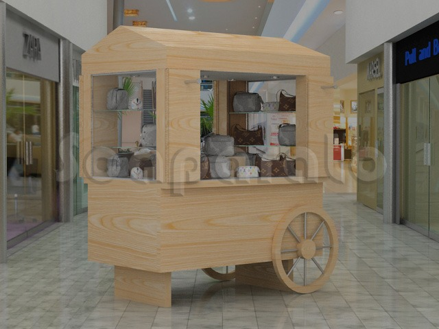 RETAIL CART WITH WHEEL CA05  - Scaparato