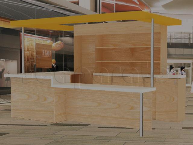Modulos De Cafeteria Fabricado Para Un Servicio Higienico